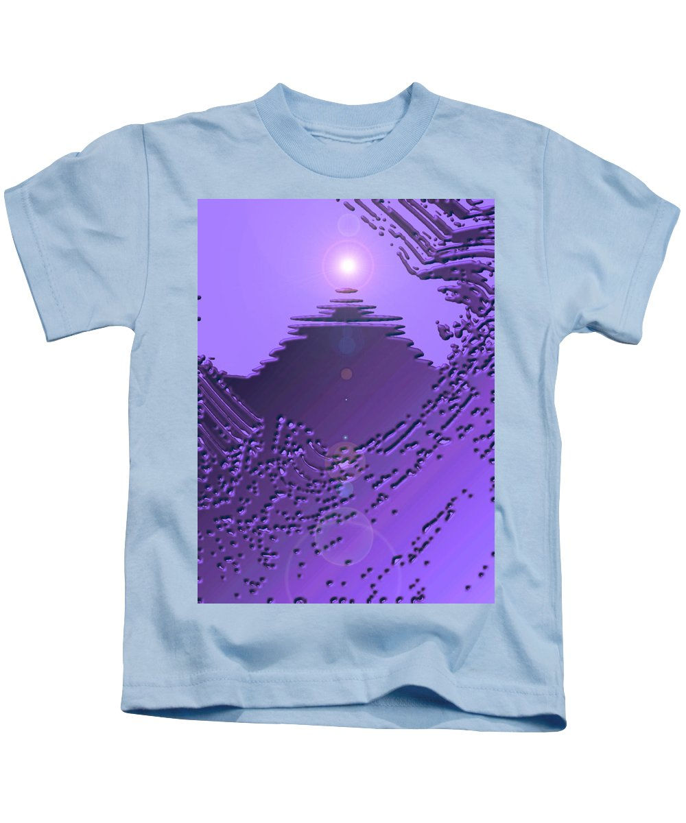 Moveonart! Digital Gallery Kids T-Shirt featuring the digital art Moveonart Purple Memories Two by Jacob Kanduch