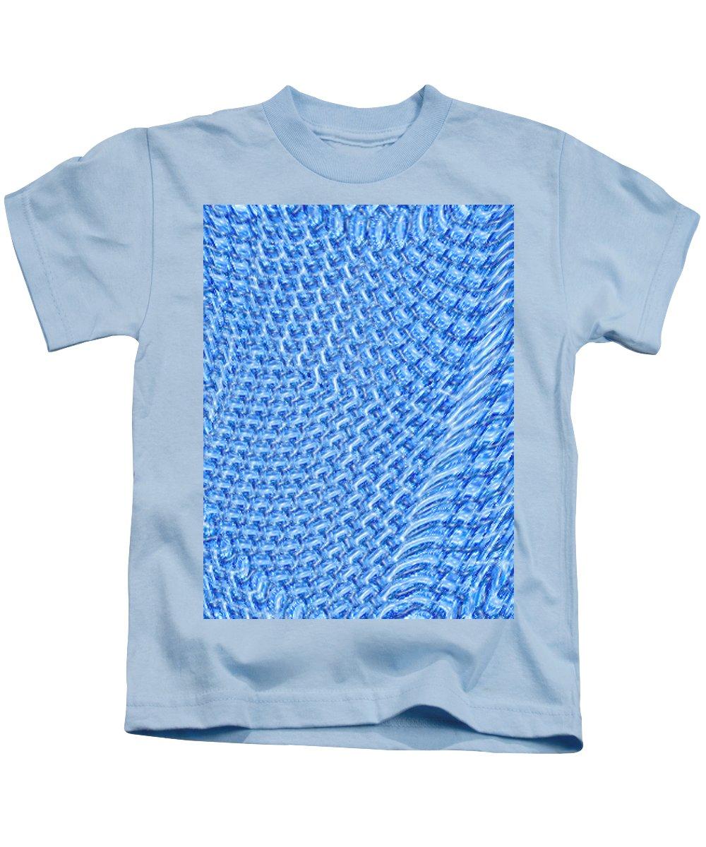 Moveonart Digital Gallery San Francisco California Lower Nob Hill Jacob Kane Kanduch Kids T-Shirt featuring the digital art Moveonart Turquoise Knit by Jacob Kanduch
