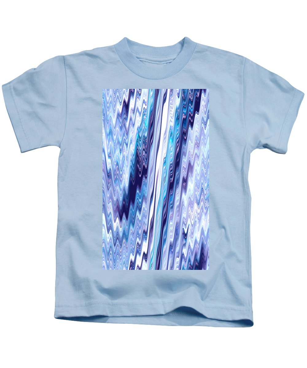 Moveonart! Digital Gallery Kids T-Shirt featuring the painting Moveonart Upward Movement One by Jacob Kanduch