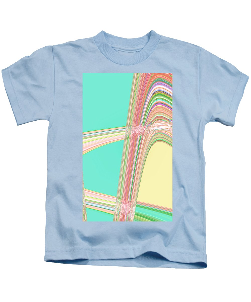 Moveonart! Digital Gallery Kids T-Shirt featuring the digital art Moveonart Wave Over Me With Calmness by Jacob Kanduch