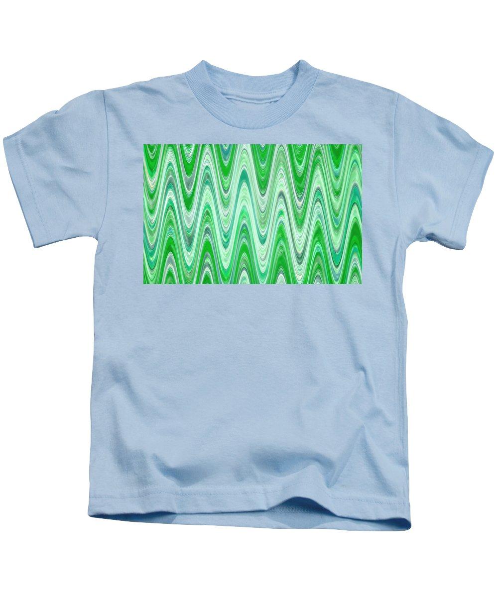 Moveonart! Digital Gallery Kids T-Shirt featuring the digital art Moveonart Waves Of Good Fortune by Jacob Kanduch