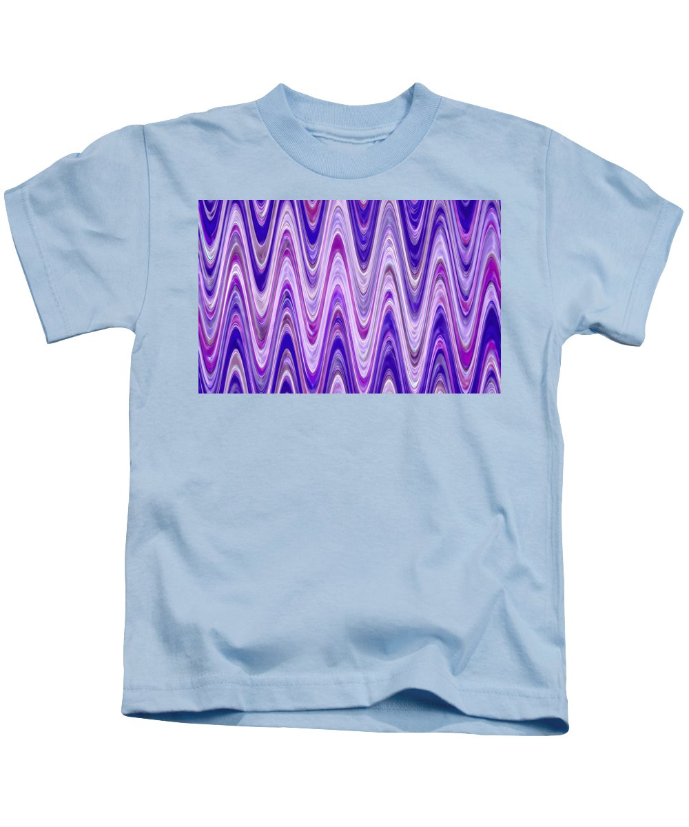 Moveonart! Digital Gallery Kids T-Shirt featuring the digital art Moveonart Waves Of New Life by Jacob Kanduch