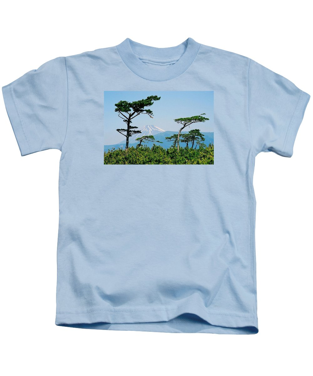 Asia Kids T-Shirt featuring the photograph Mt. Fuji ... by Juergen Weiss