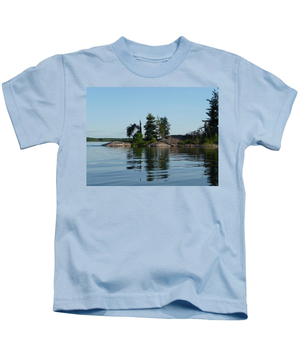 Lake Kids T-Shirt featuring the photograph Natural Breakwater by Ruth Kamenev