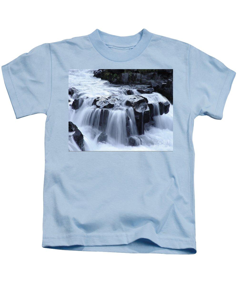 Waterfall Kids T-Shirt featuring the photograph Natural Bridges Falls 02 by Peter Piatt