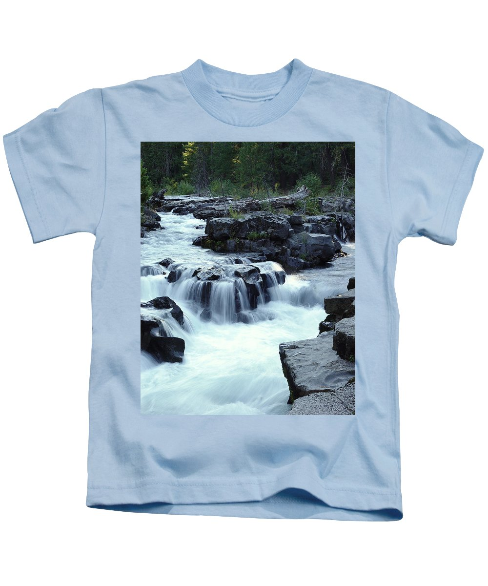 Waterfall Kids T-Shirt featuring the photograph Natural Bridges Falls 03 by Peter Piatt
