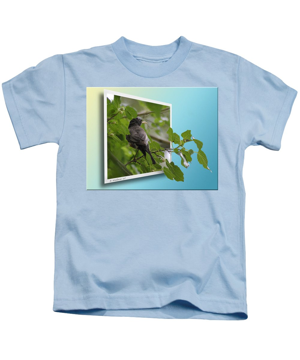 2d Kids T-Shirt featuring the photograph Nature Bird by Brian Wallace