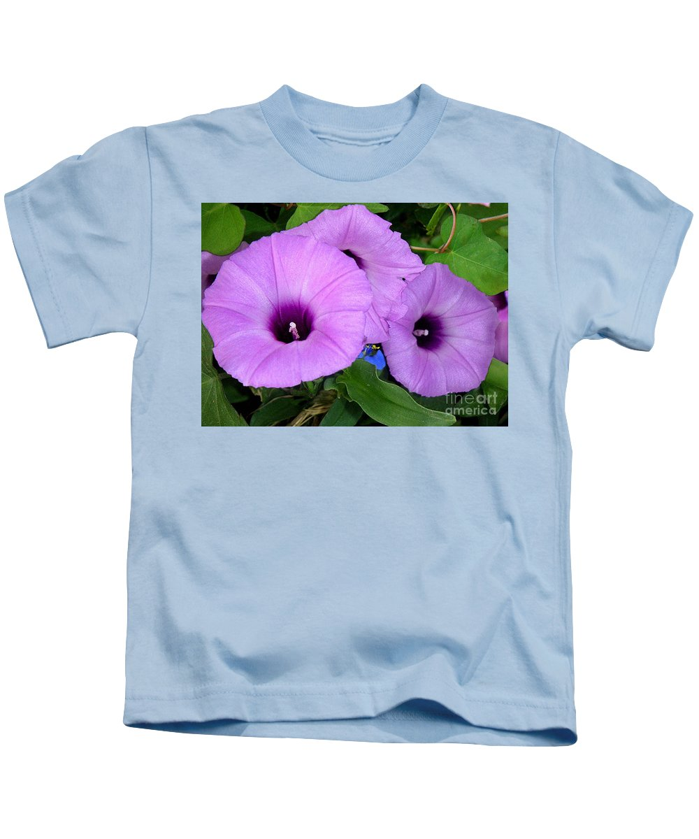 Nature Kids T-Shirt featuring the photograph Nature In The Wild - Morning Bells by Lucyna A M Green