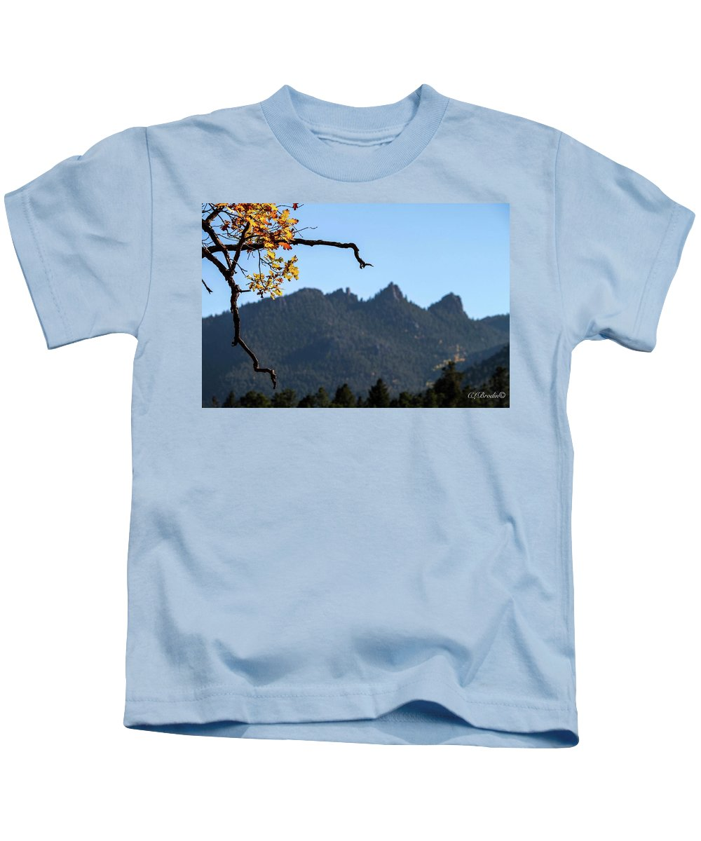 Fall Kids T-Shirt featuring the photograph Nature's Frame by Chelsea Brodin