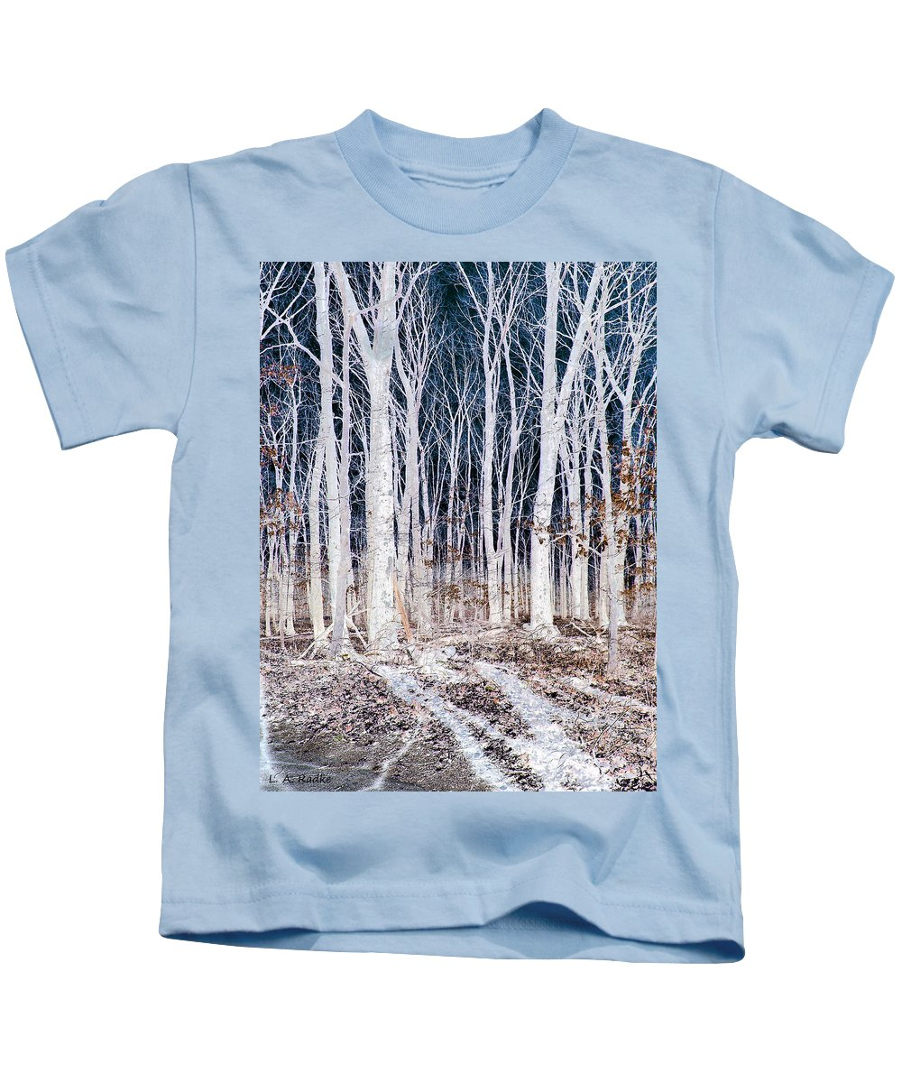 Tree Kids T-Shirt featuring the photograph Negative Spaces by Lauren Radke