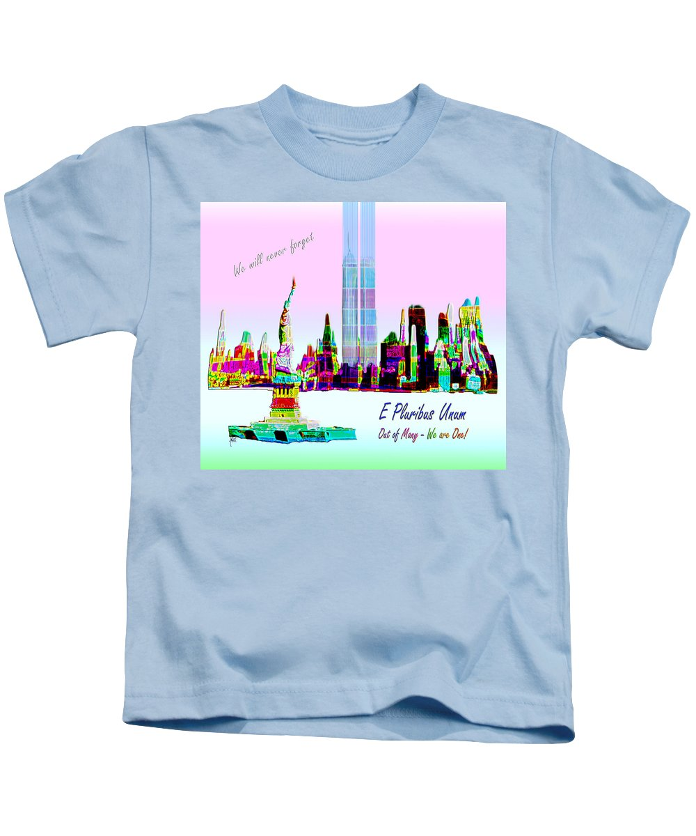 911 Kids T-Shirt featuring the photograph Nine Eleven E Pluribus Unum by Michele Avanti