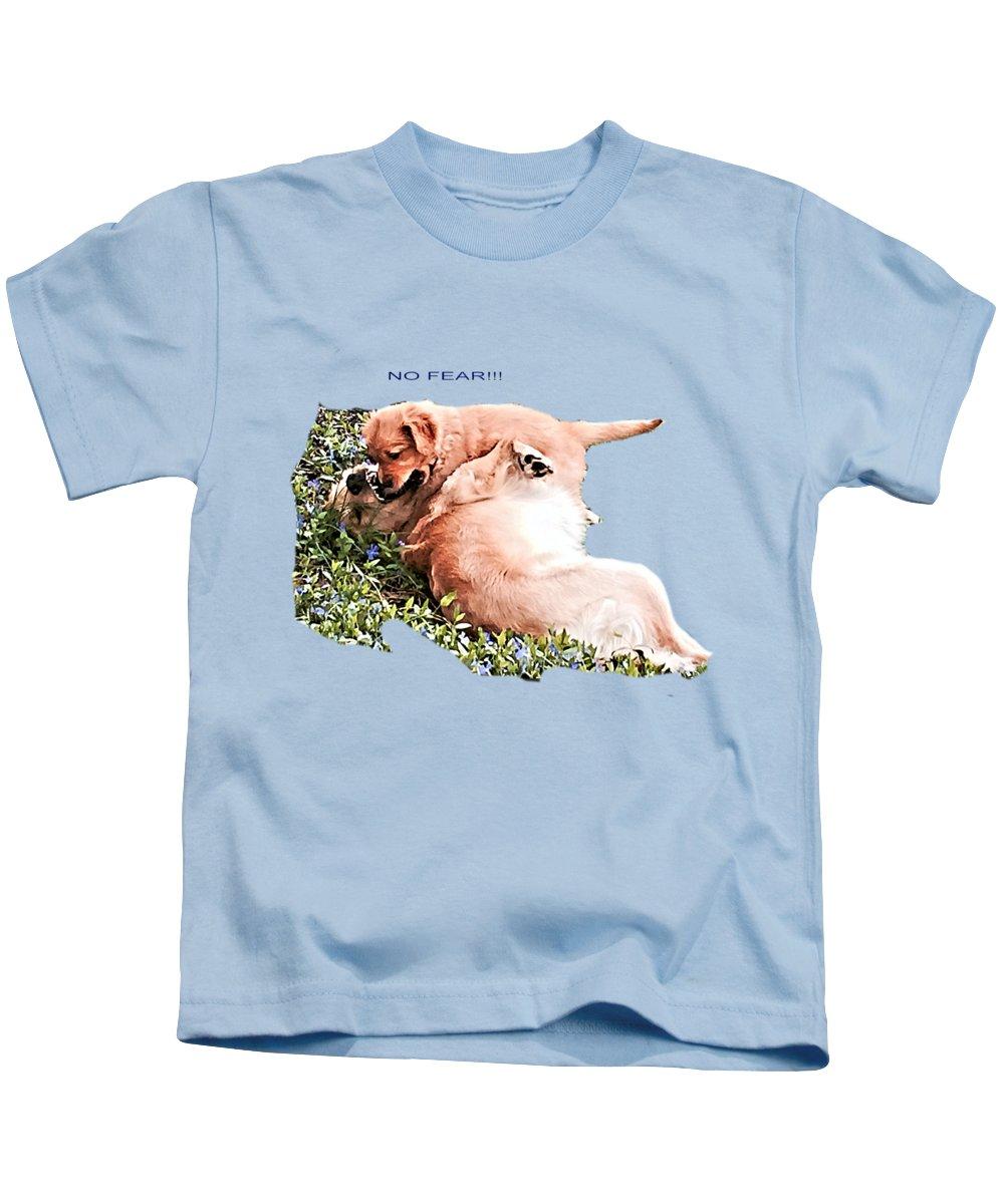 Tilly Kids T-Shirt featuring the photograph No Fear by John Feiser
