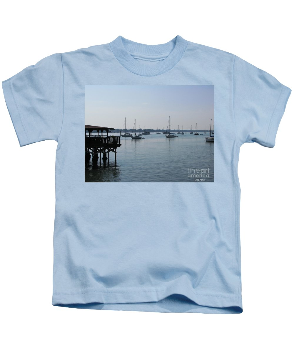 Art For The Wall...patzer Photography Kids T-Shirt featuring the photograph No Wind by Greg Patzer