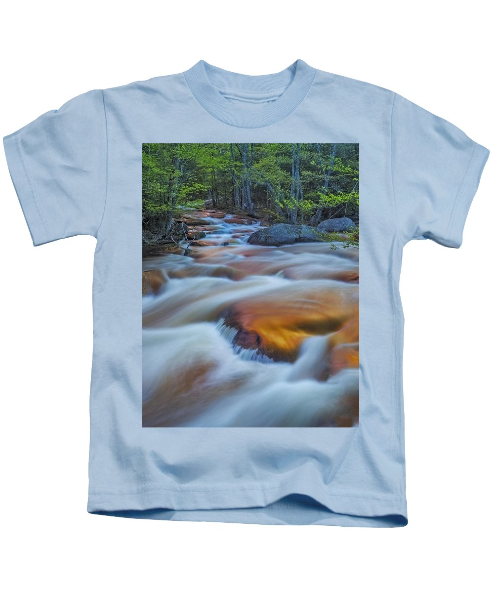 New England Kids T-Shirt featuring the photograph North Branch Rapid In Spring by Scott Snyder