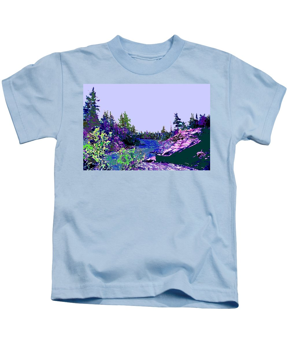 Norlthern Kids T-Shirt featuring the photograph Northern Ontario River by Ian MacDonald