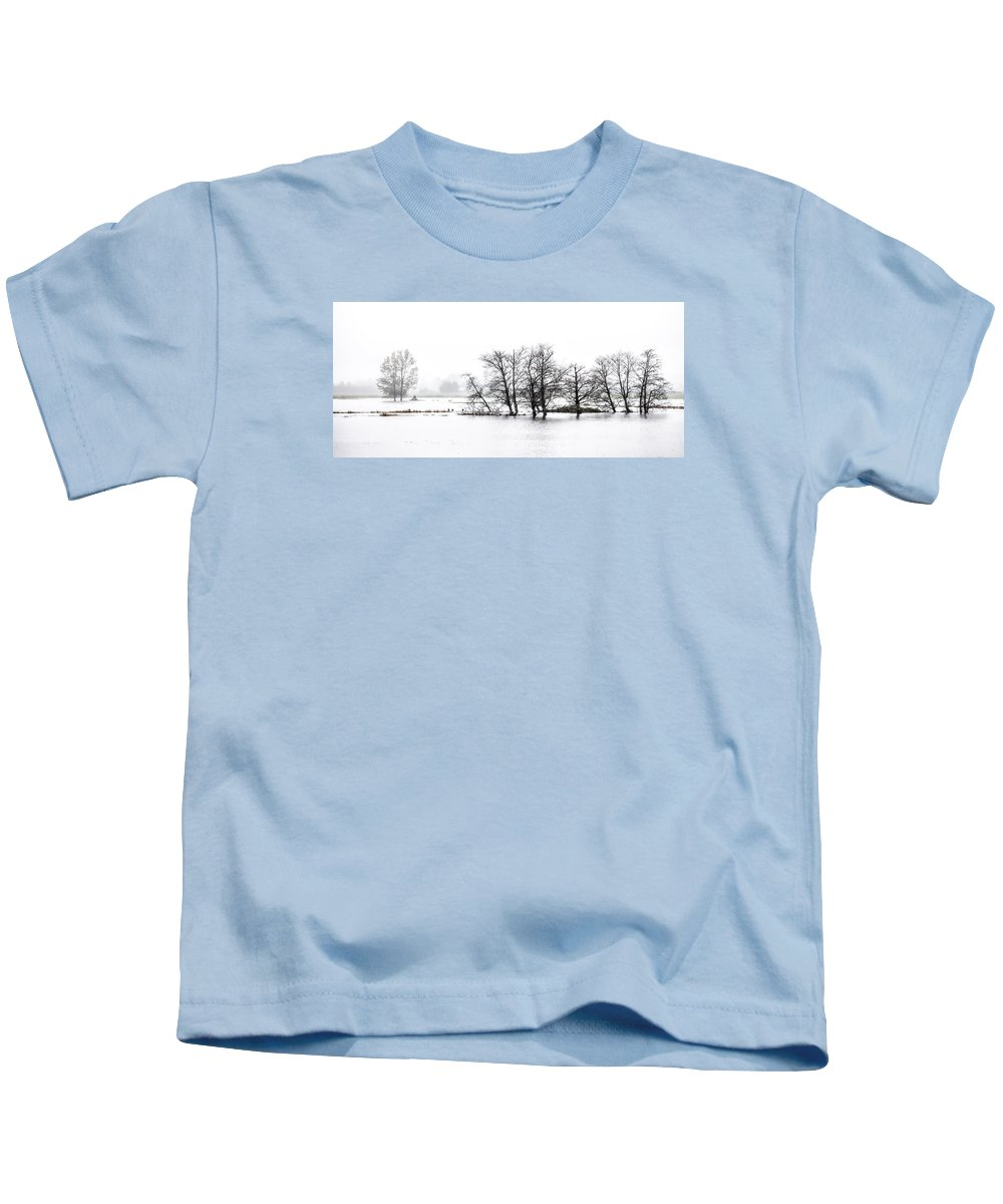 Water Kids T-Shirt featuring the photograph November Flood 1 by Jim Young