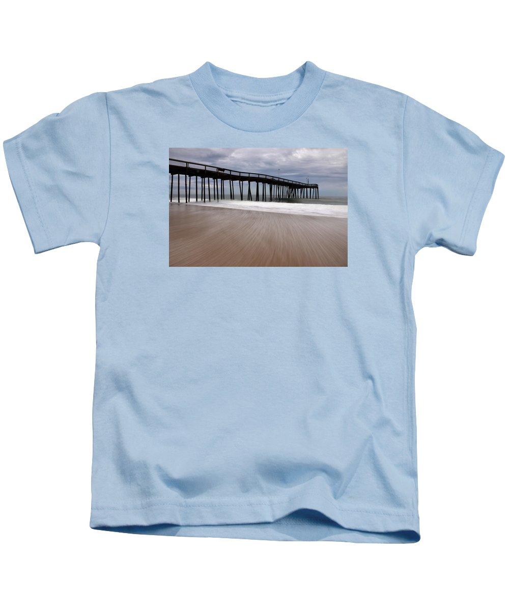 Ocean Kids T-Shirt featuring the photograph Ocean City Pier 3 by Don Keisling