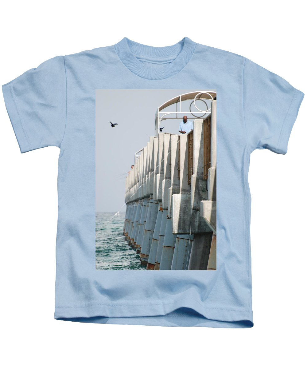 Fishing Kids T-Shirt featuring the photograph Ocean Pier by Rob Hans