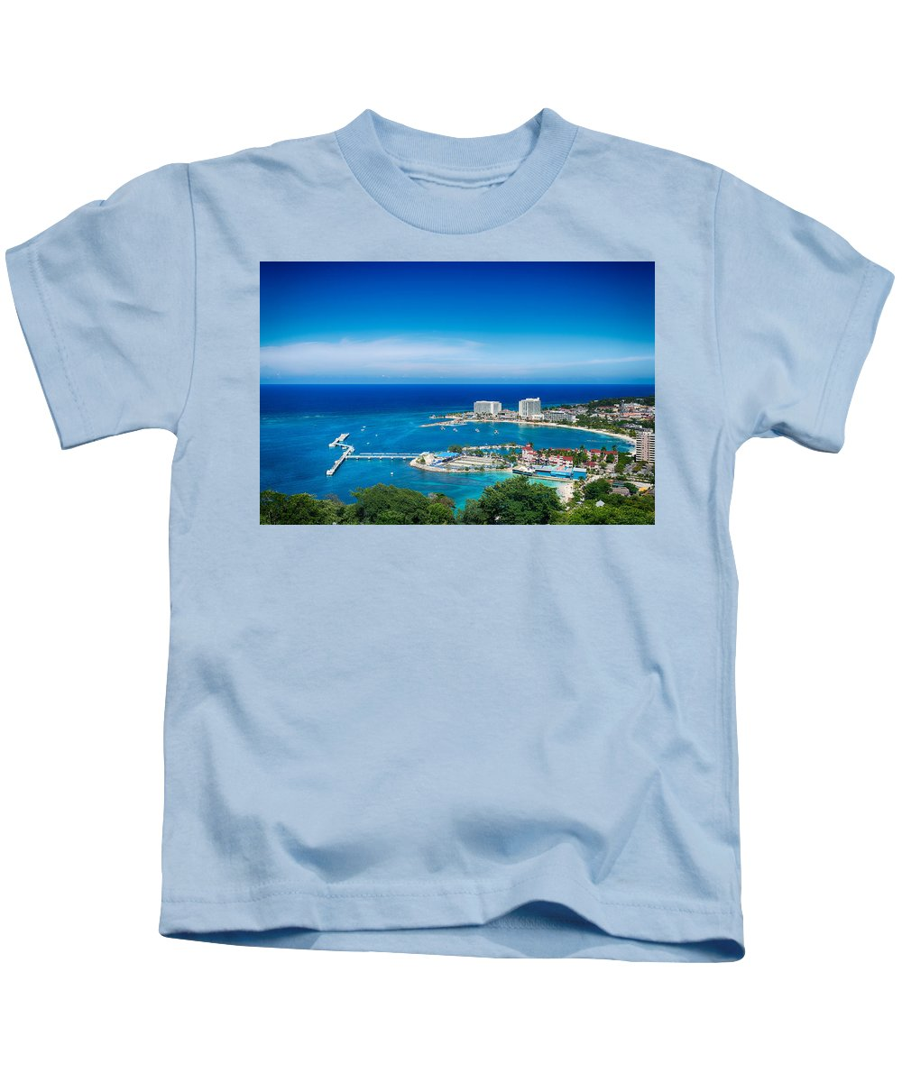 Kids T-Shirt featuring the mixed media Ocho Rios by Bryan Smith