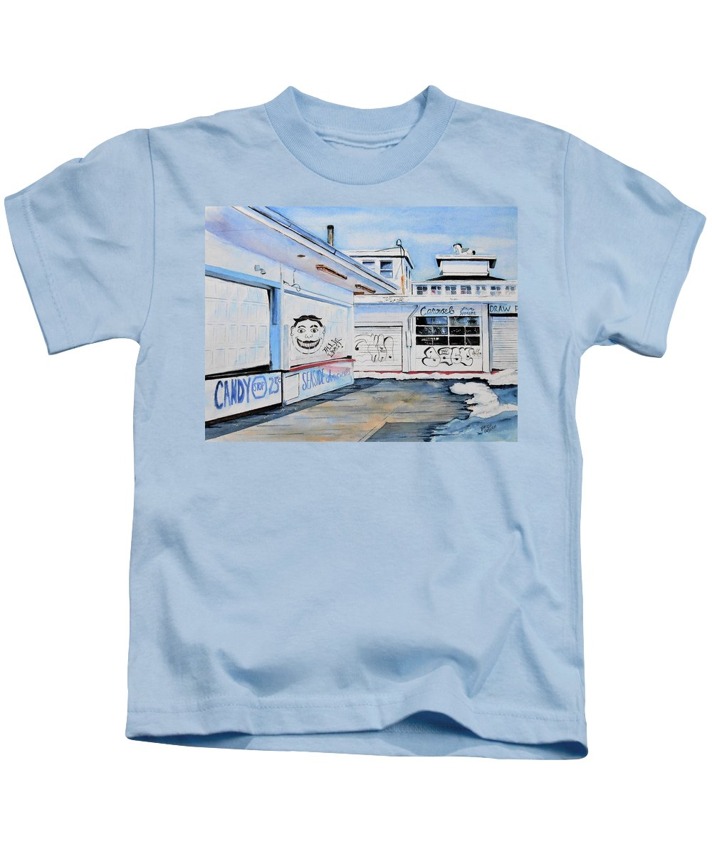 New Jersey Kids T-Shirt featuring the painting Offseason by Brian Degnon