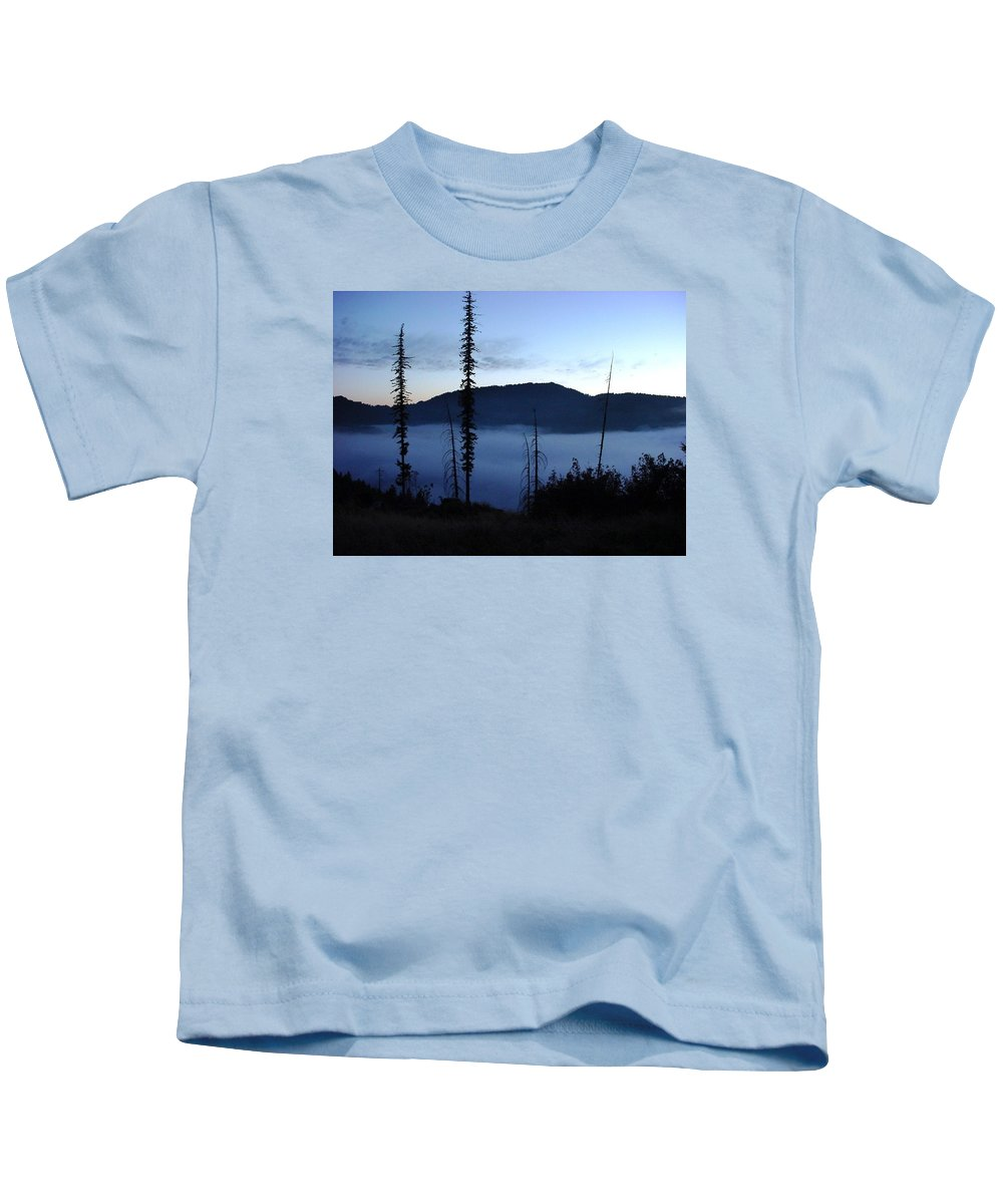 Landscape Kids T-Shirt featuring the photograph Olallie Fogrise by Val Conrad