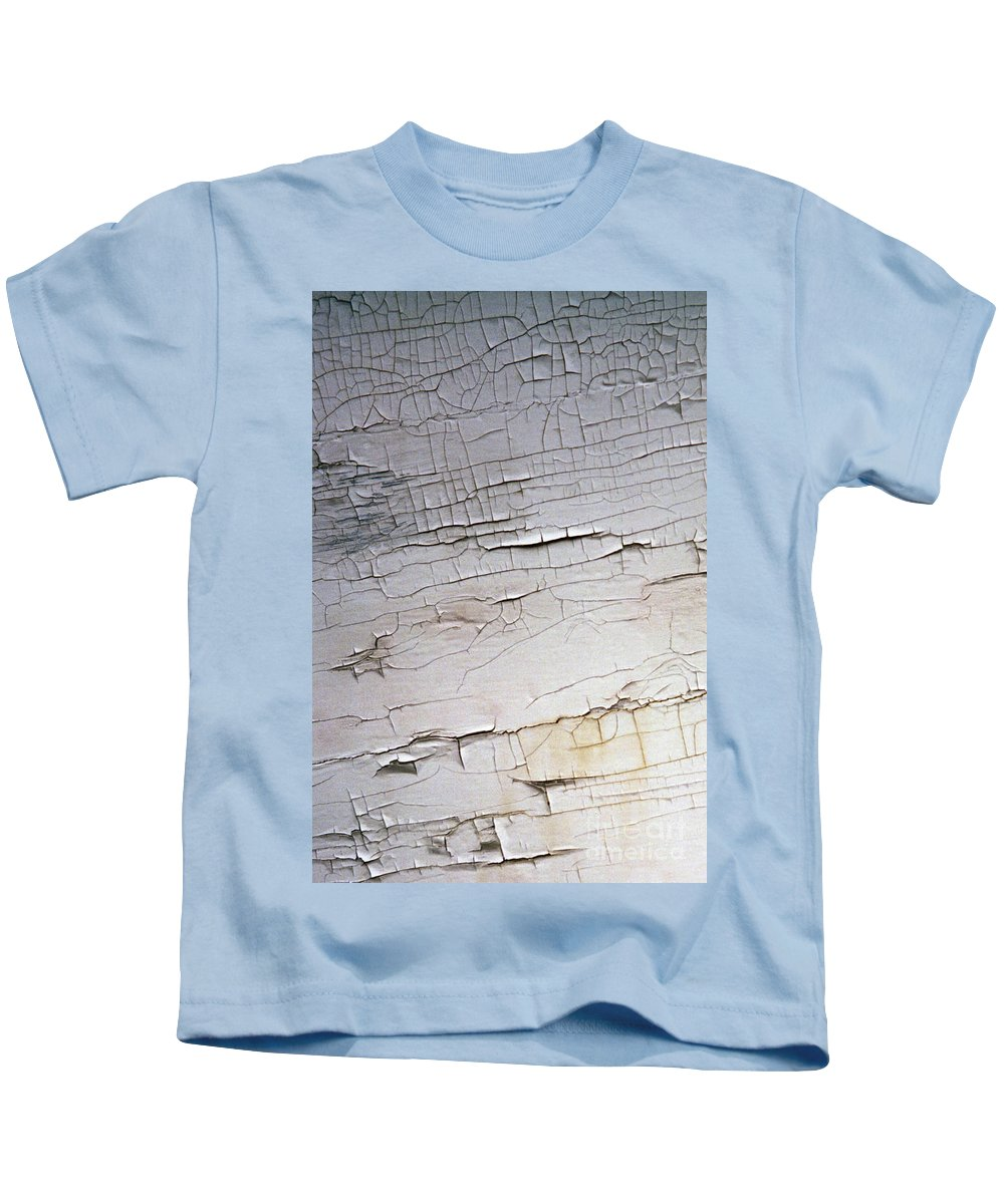 Paint Kids T-Shirt featuring the photograph Old Siding by Richard Rizzo