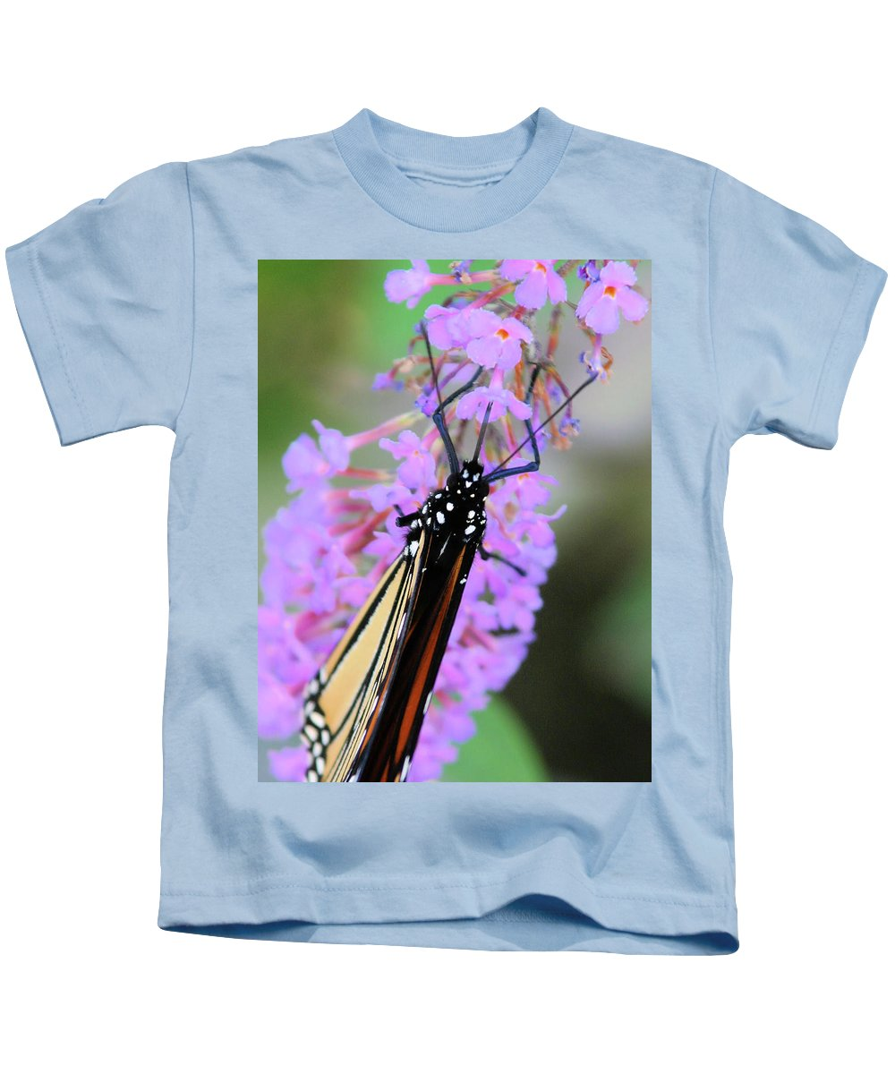 Butterfly Kids T-Shirt featuring the photograph On An Angle by Karol Livote