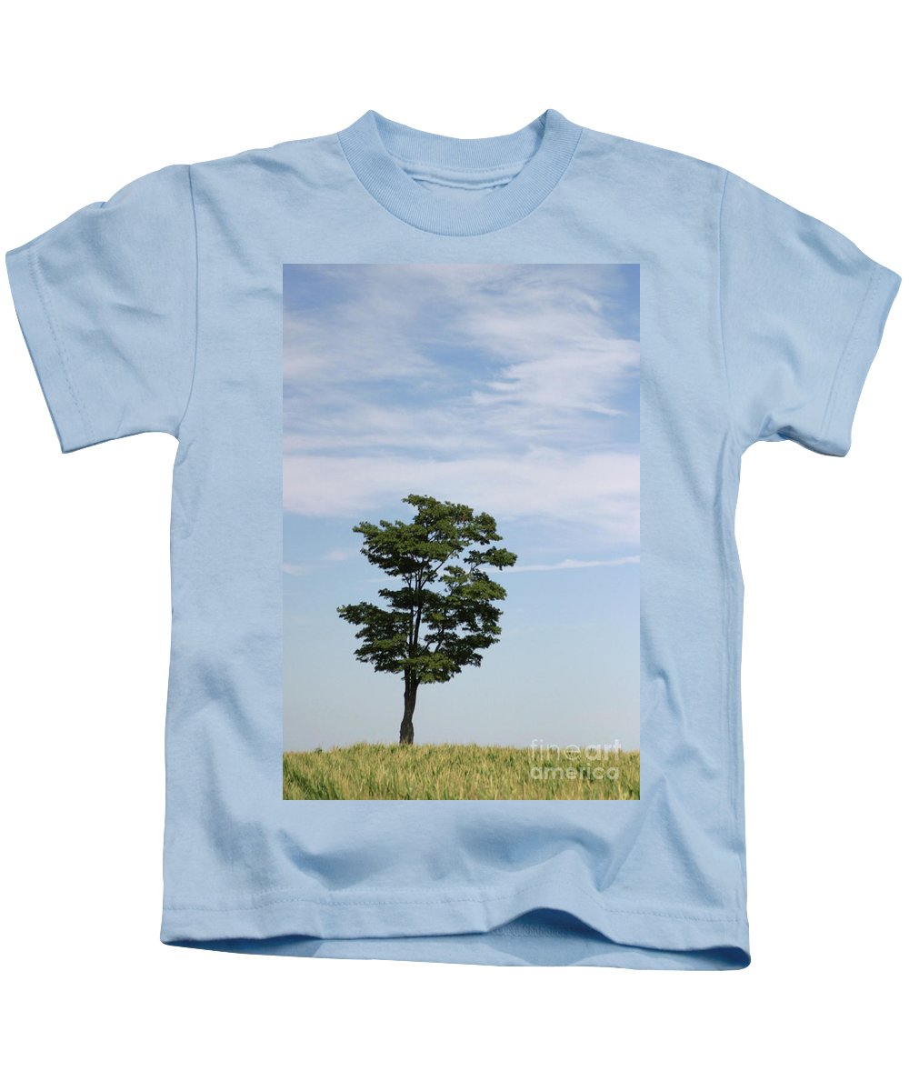 Abstract Kids T-Shirt featuring the photograph On The Prairie by Alan Look