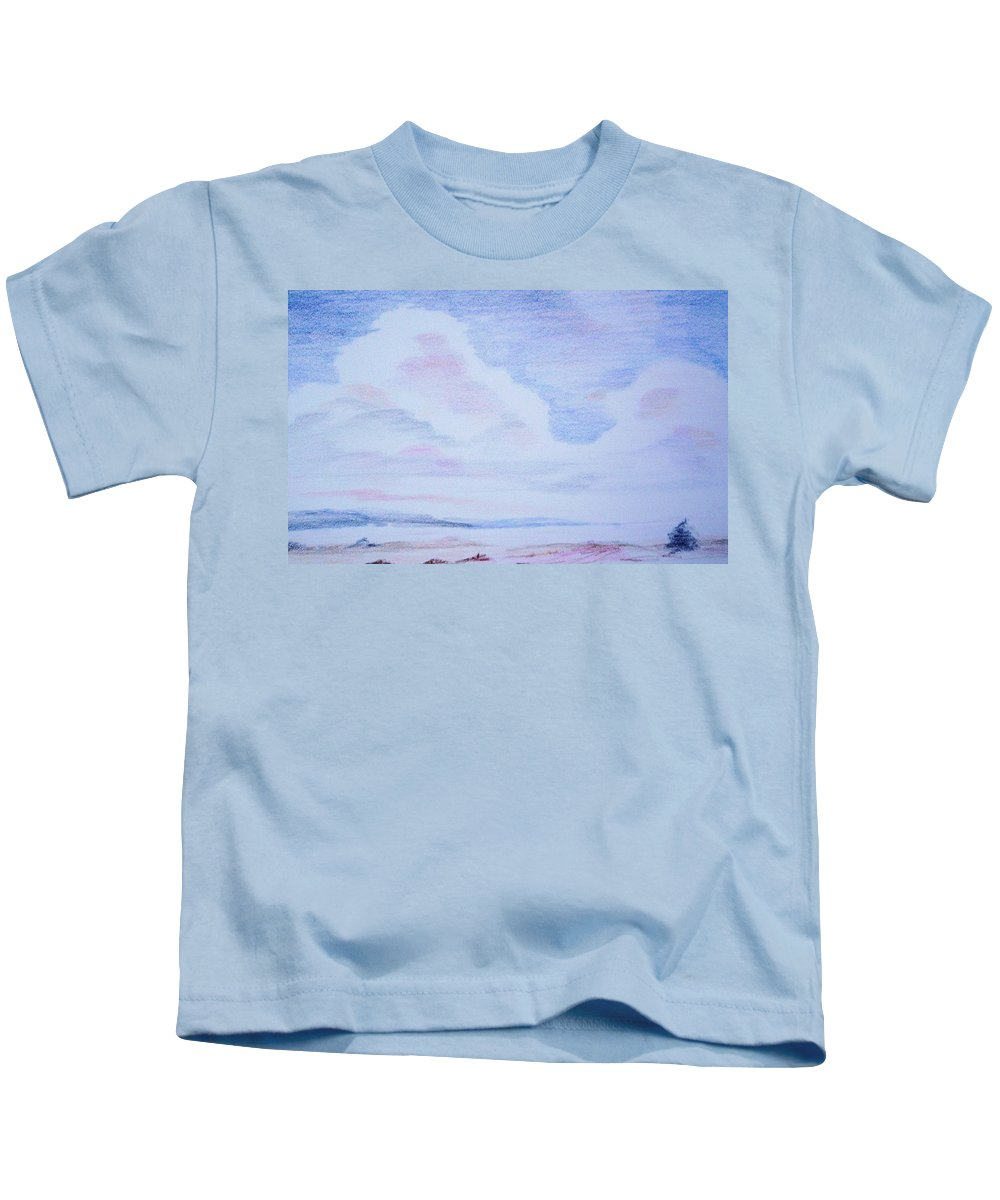 Landscape Painting Kids T-Shirt featuring the painting On The Way by Suzanne Udell Levinger