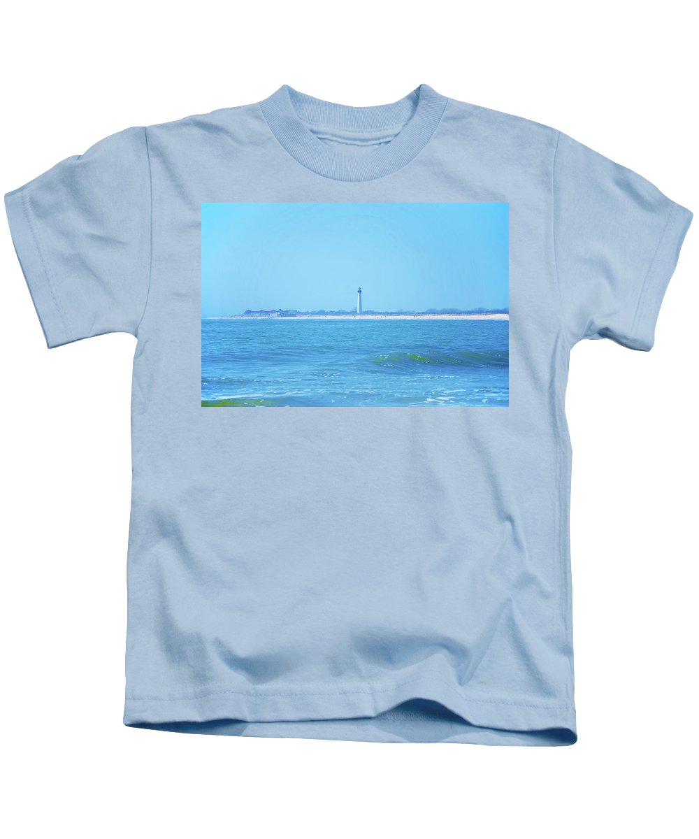 Cape May Kids T-Shirt featuring the photograph On The Way To Cape May by Bill Cannon