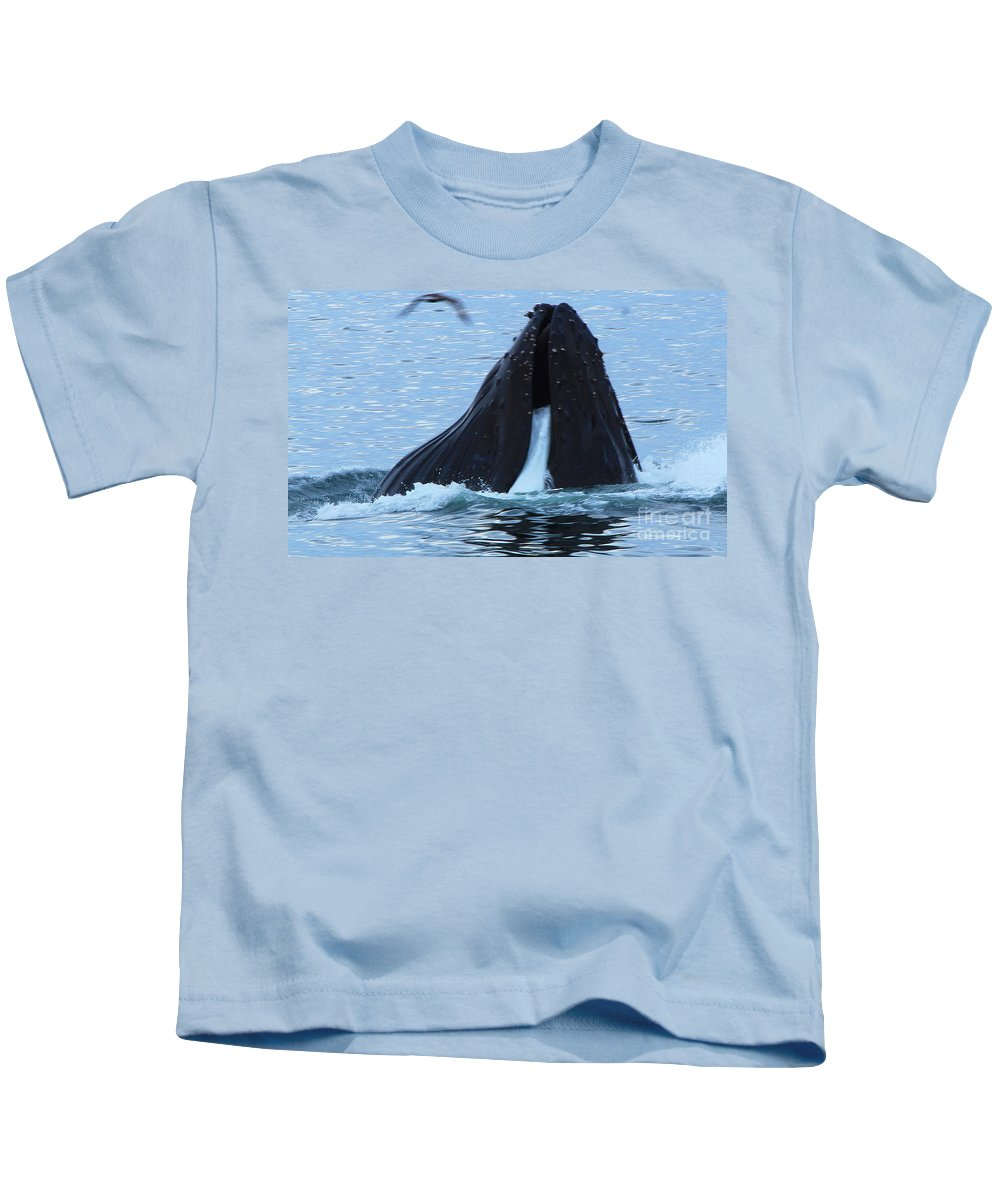 Whale Kids T-Shirt featuring the photograph One Big Gulp by Kris Hiemstra