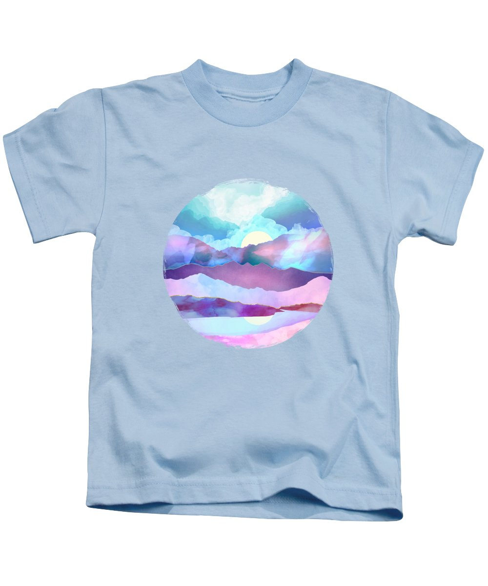Opal Kids T-Shirt featuring the digital art Opal Mountains by Spacefrog Designs
