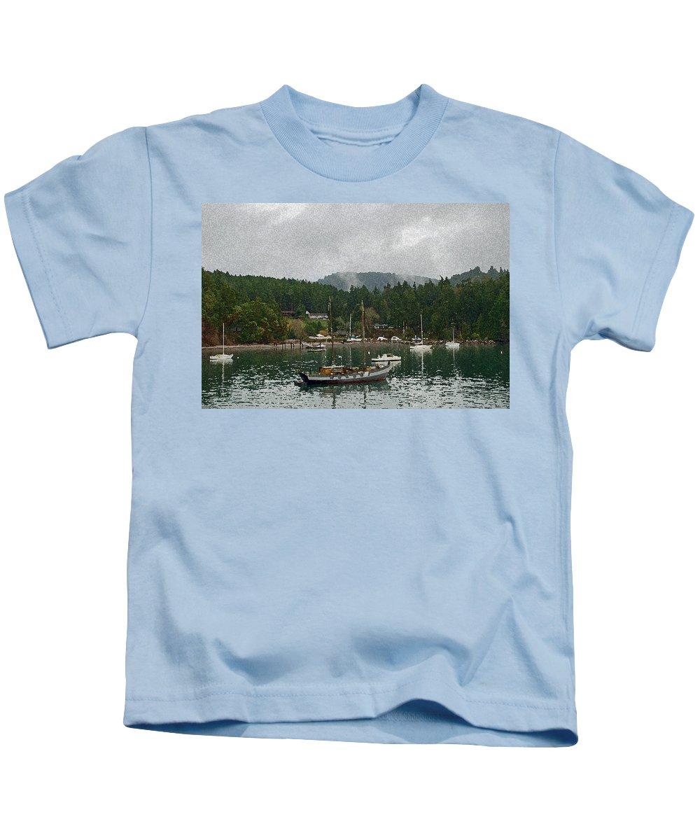 Orcas Kids T-Shirt featuring the photograph Orcas Island Digital Enhancement by Carol Eliassen