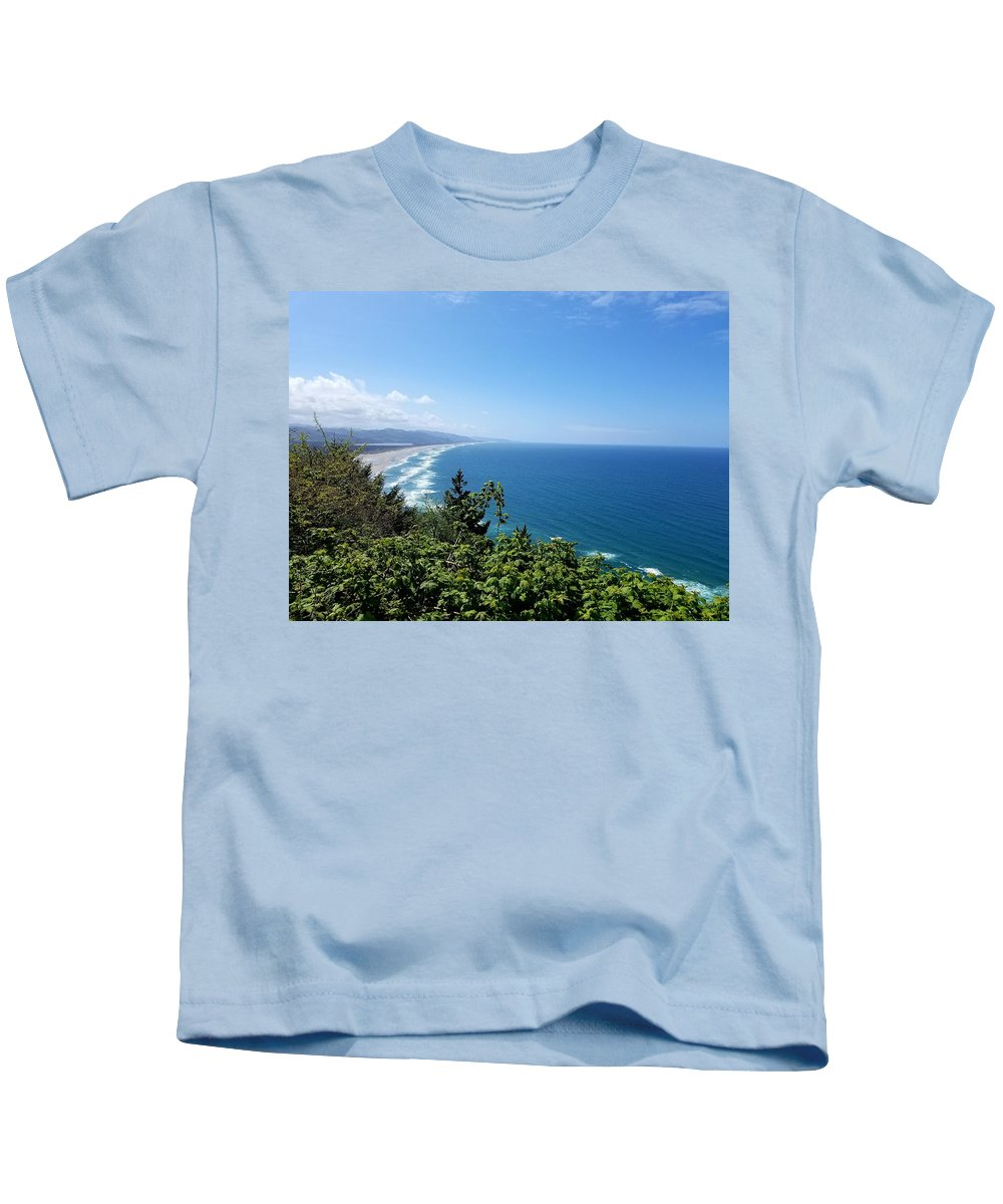 Pacific Ocean Kids T-Shirt featuring the photograph Oregon Coast by Tonya P Smith