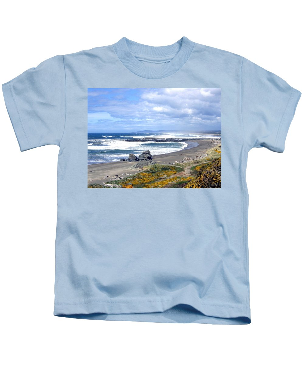Bandon Kids T-Shirt featuring the photograph Oregon Coast by Will Borden