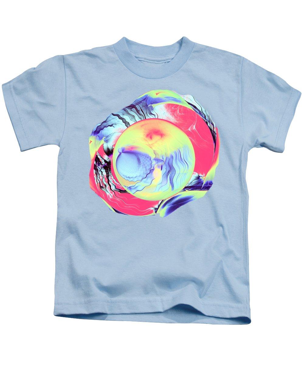 Origination Kids T-Shirt featuring the digital art Origination by Anastasiya Malakhova