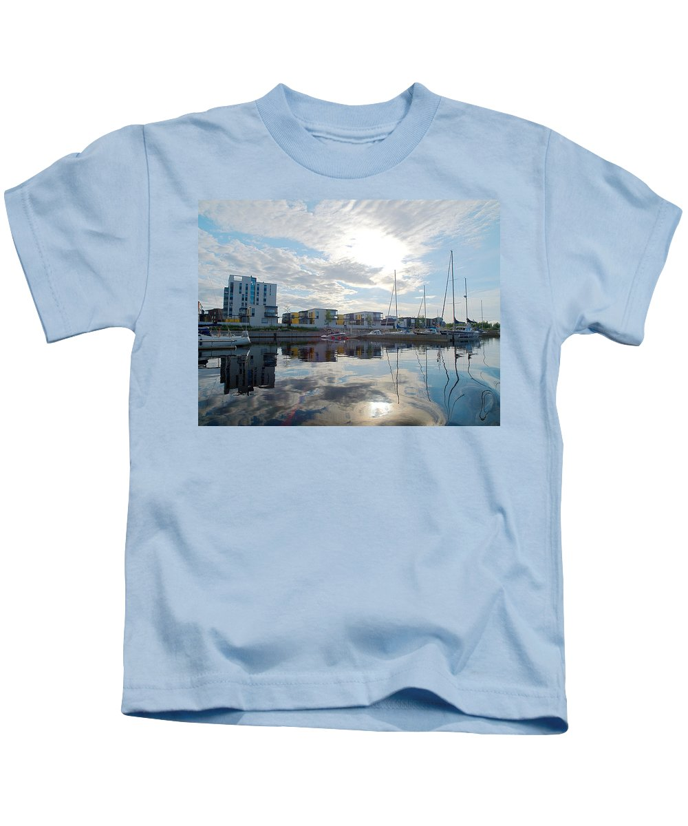 Oulu Kids T-Shirt featuring the photograph Oulu From The Sea 2 by Jouko Lehto