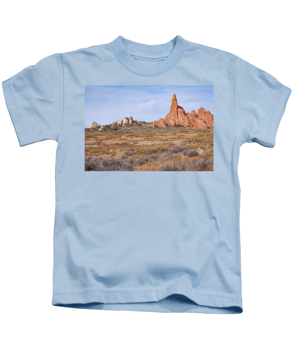 Landscape Kids T-Shirt featuring the photograph Outcroppings by John M Bailey