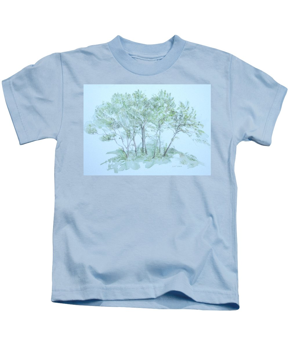 Trees Kids T-Shirt featuring the painting Outer Banks by Leah Tomaino