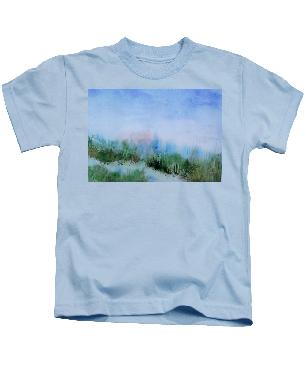 Landscape Kids T-Shirt featuring the painting Overlook by Suzanne Udell Levinger