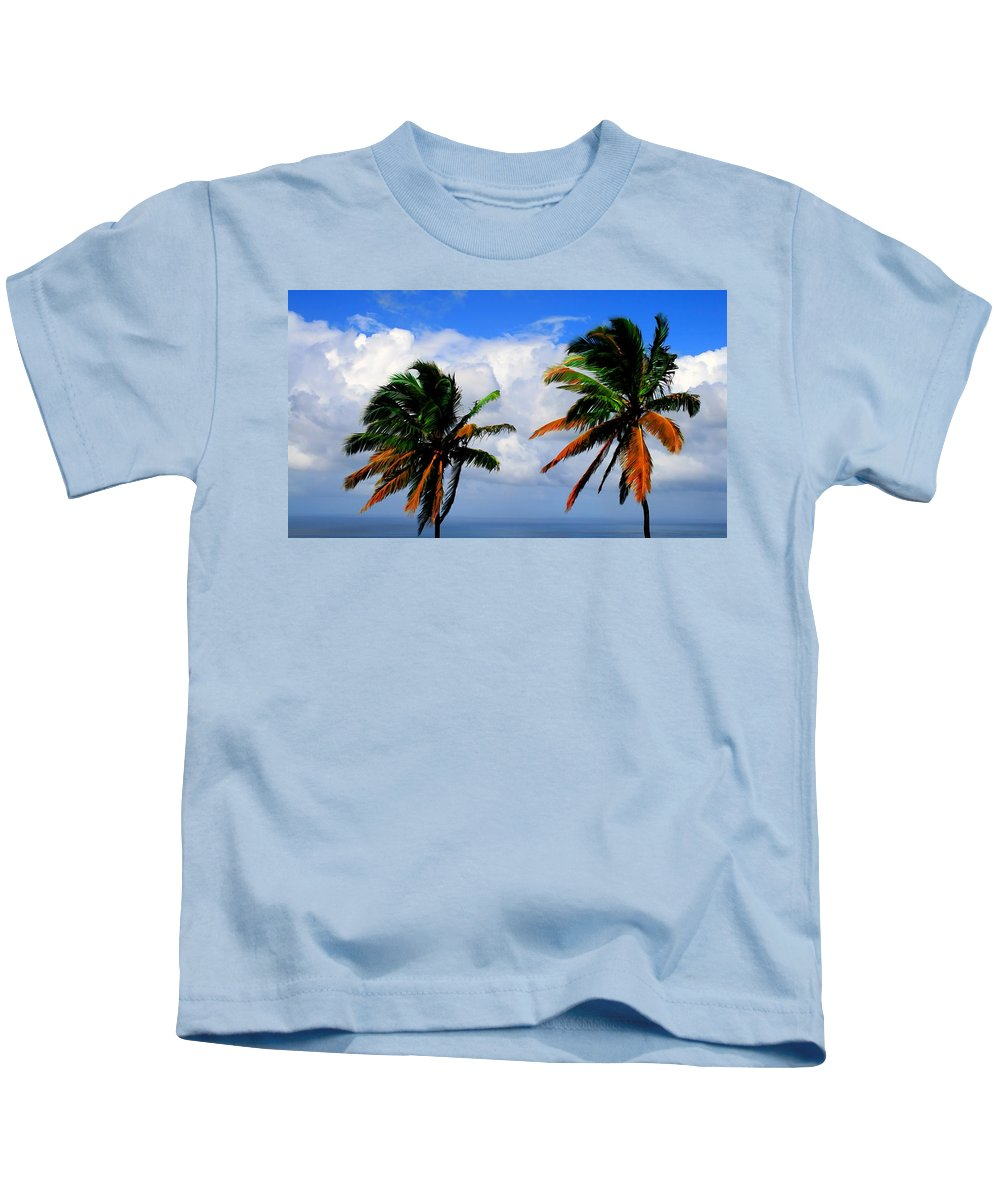 Palm Kids T-Shirt featuring the photograph Painted Palm Trees by Perry Webster