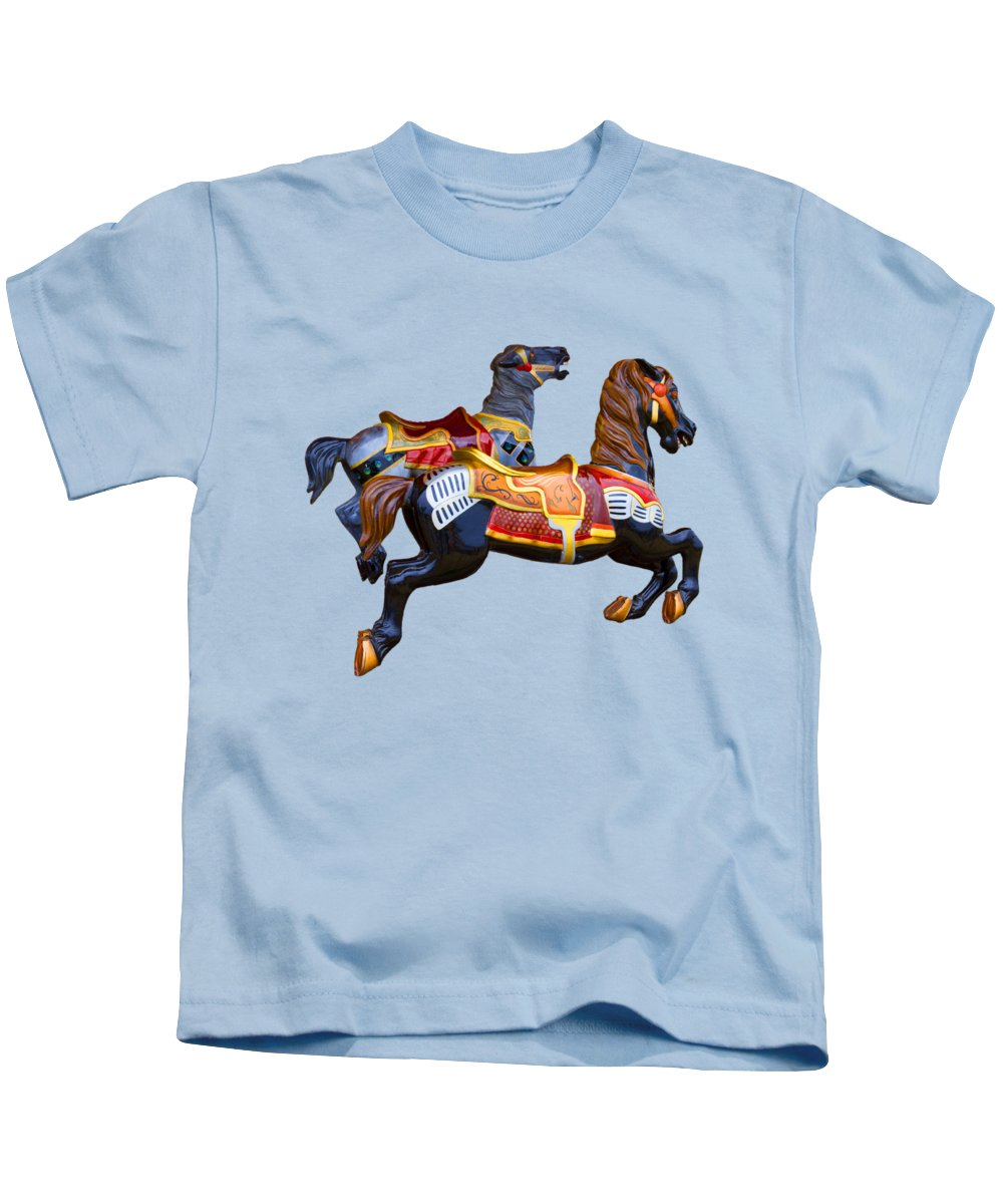 Merry-go-round Photographs Kids T-Shirts