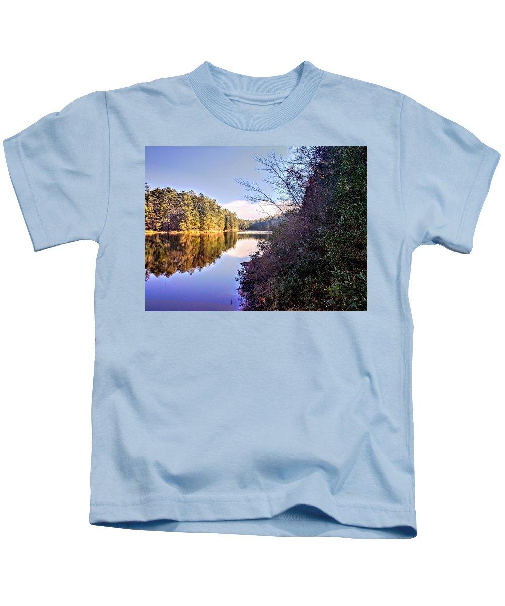 Landscape Kids T-Shirt featuring the photograph Pakim Pond by Paul Kercher