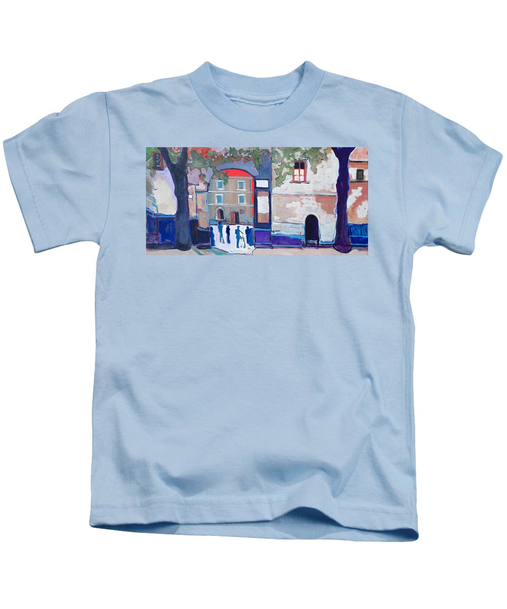 Village Kids T-Shirt featuring the painting Palazzo Di Villafranca by Kurt Hausmann