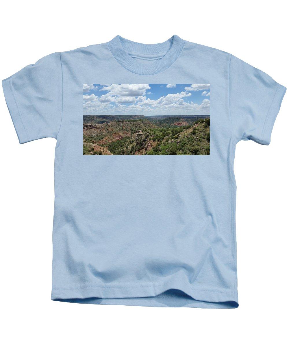 Landscape Kids T-Shirt featuring the photograph Palo Duro by John Cummins