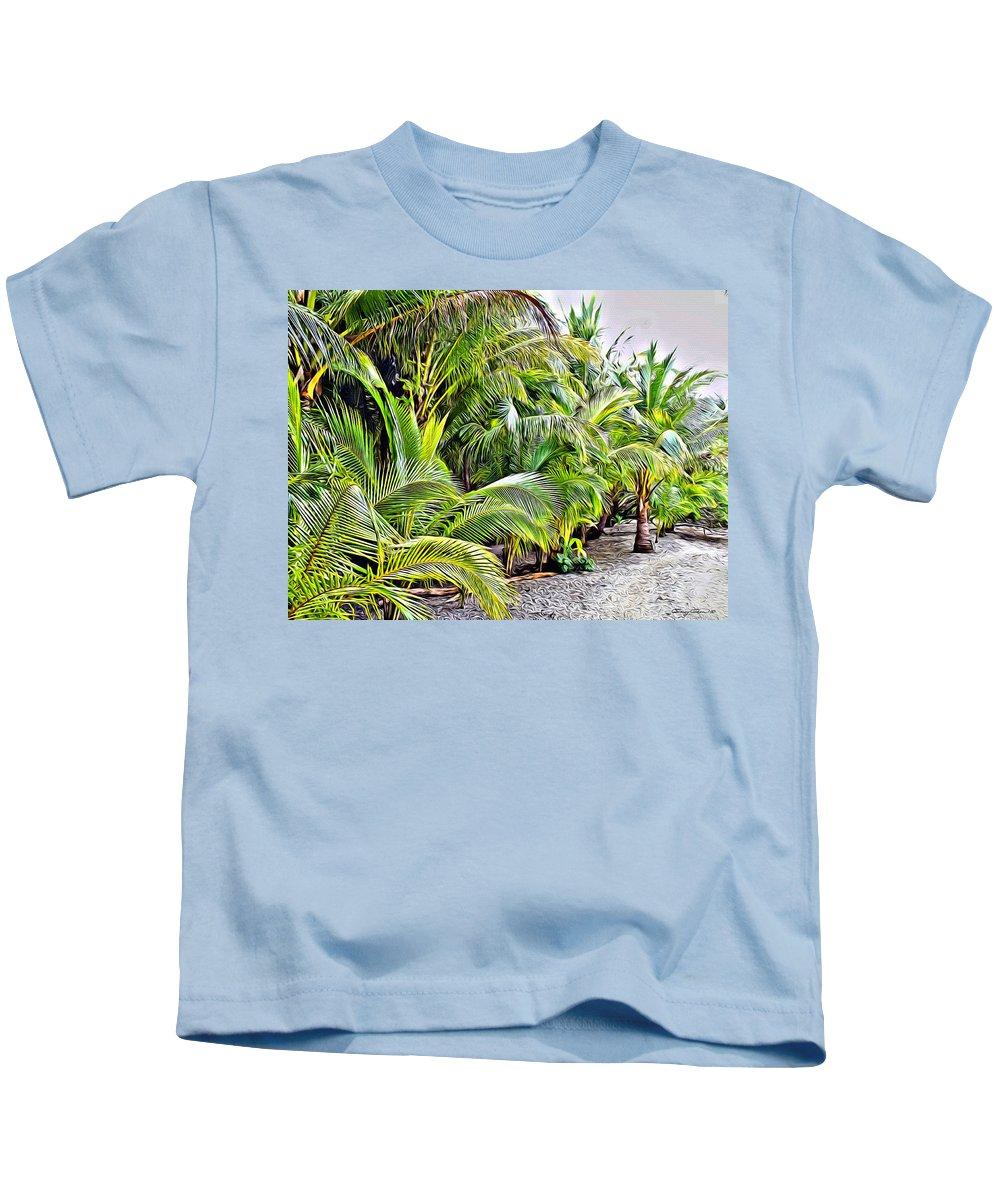 Panama Kids T-Shirt featuring the digital art Panama Trees by Anthony C Chen