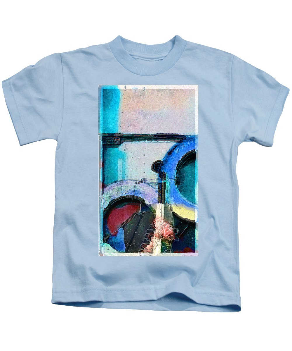 Abstract Kids T-Shirt featuring the photograph panel three from Centrifuge by Steve Karol