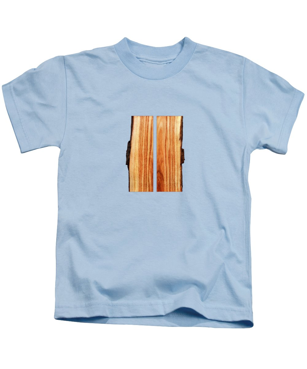 Block Kids T-Shirt featuring the photograph Parallel Wood by YoPedro
