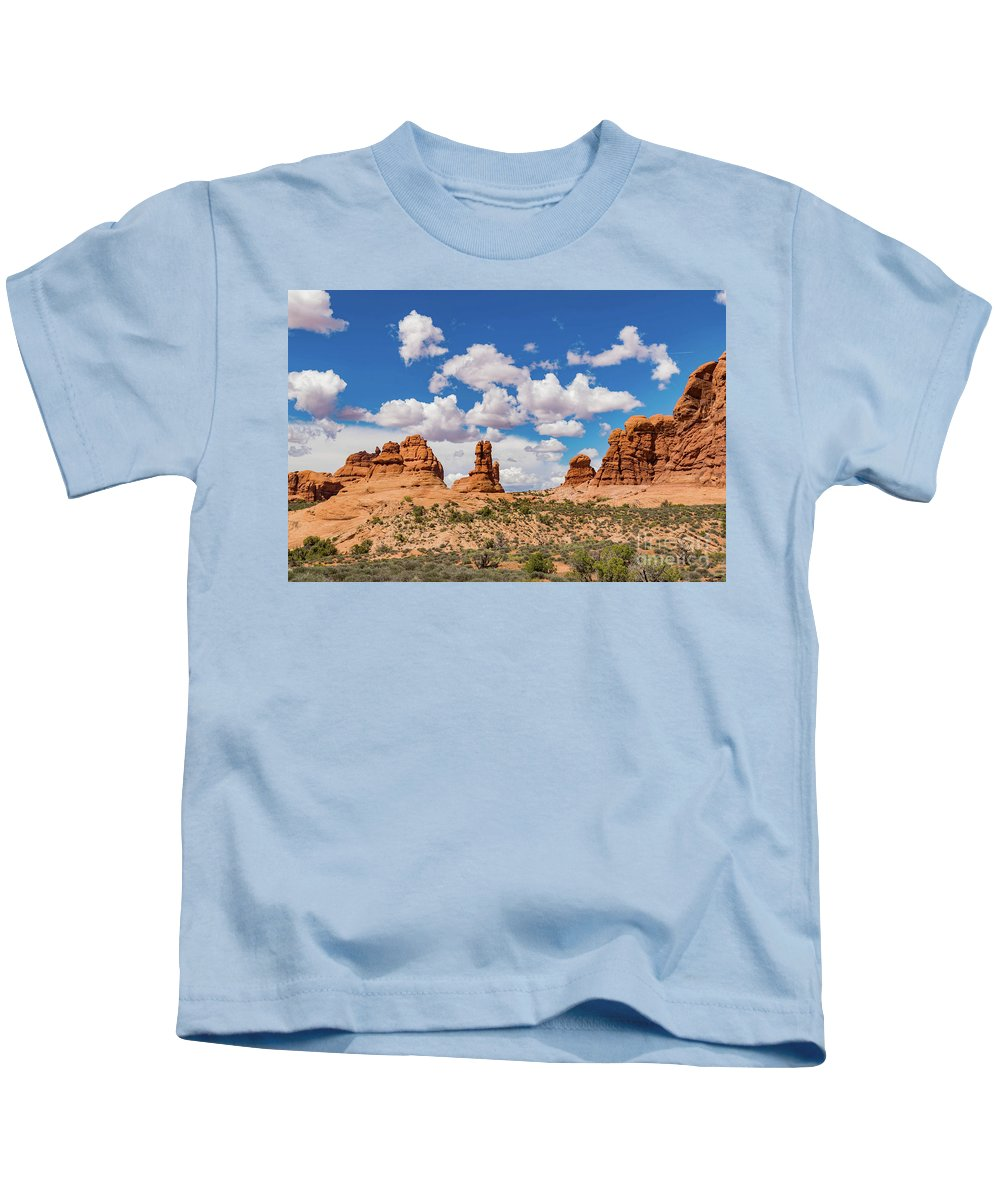 Red Rocks Kids T-Shirt featuring the photograph Arches Park National by Steven Eyre Photography