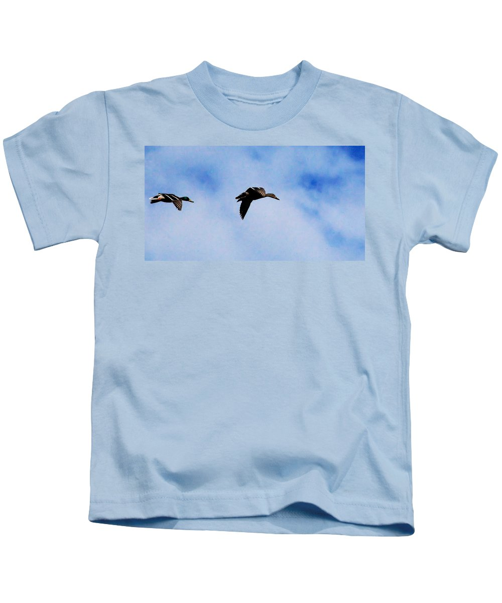 Digital Photography Kids T-Shirt featuring the photograph Partners by David Lane